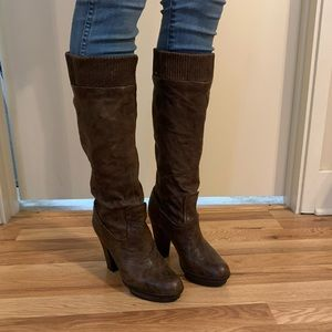 Frye tall slouch boots